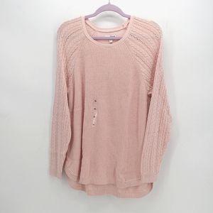 Sonoma Pointelle Sleeve Knit Sweater